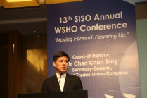 NTUC Secretary-General Chan Chun Sing fielding questions from WSH Professionals.