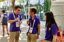 Volunteers on duty at the 28th SEA Games