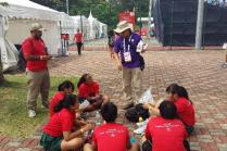 Safety briefing to students at Kranji Turf Club