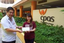 SISO raised a total of SGD$1028.00, in which the proceeds were donated to CPAS<br/>Following the auction at the SISO 40th Anniversary Members' Nite, SISO raised a total of SGD$1028.00, in which the proceeds were donated to Cerebral Palsy Alliance Singapore (CPAaS).