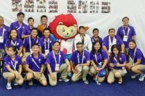 Volunteers with Nila the 28th SEA Games Mascot