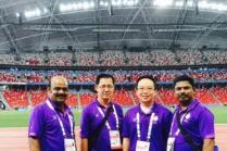 Volunteers on duty at the National Stadium