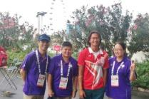 Photo with Singapore canoeist, Lucas Teo