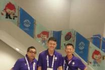 Volunteers on site at the 28th SEA Games