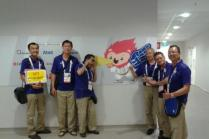 Sharing a fun moment at the 28th SEA Games