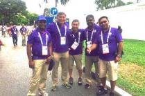 Group photo of happy Volunteers at 28th SEA Games